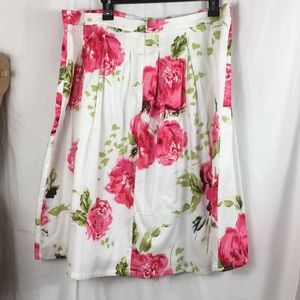 Roz & Ali white skirt with pink flowers